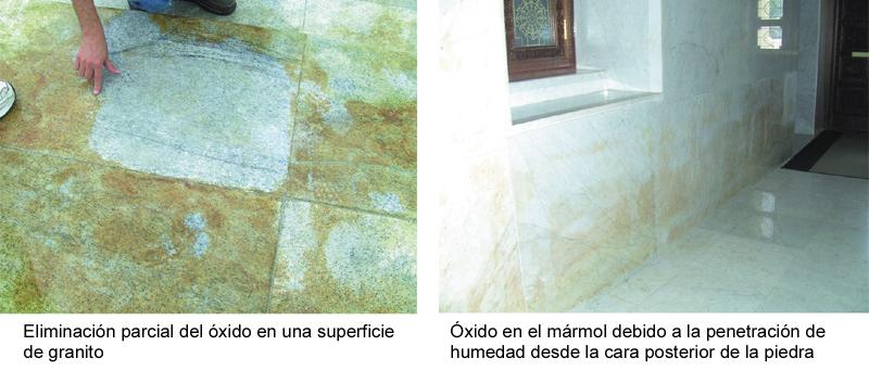 Problemas y soluciones del uso de piedra natural en for Manchas en el marmol