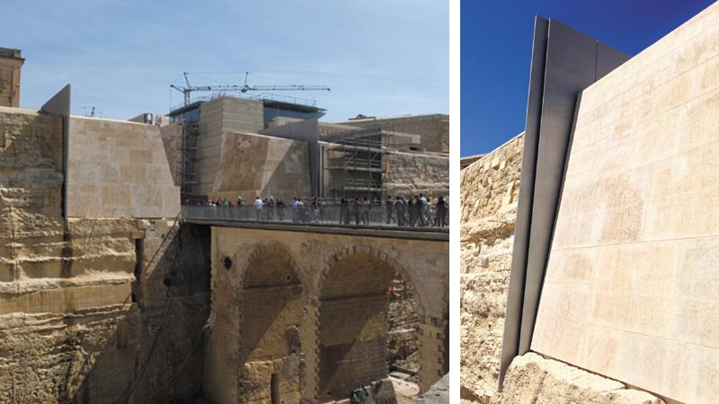 Renzo piano malta a new stone facade for the new for Renzo piano malta