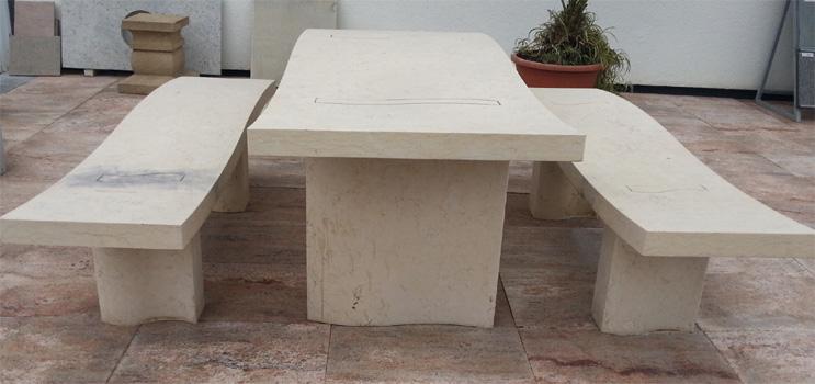 tische und b nke aus naturstein litosonline. Black Bedroom Furniture Sets. Home Design Ideas