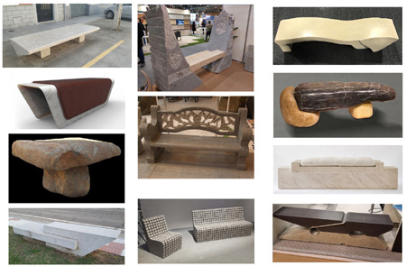 collage benches